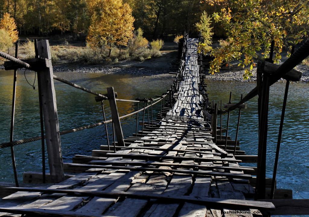 Мост через Чулышман. Улаганский район. Республика Алтай